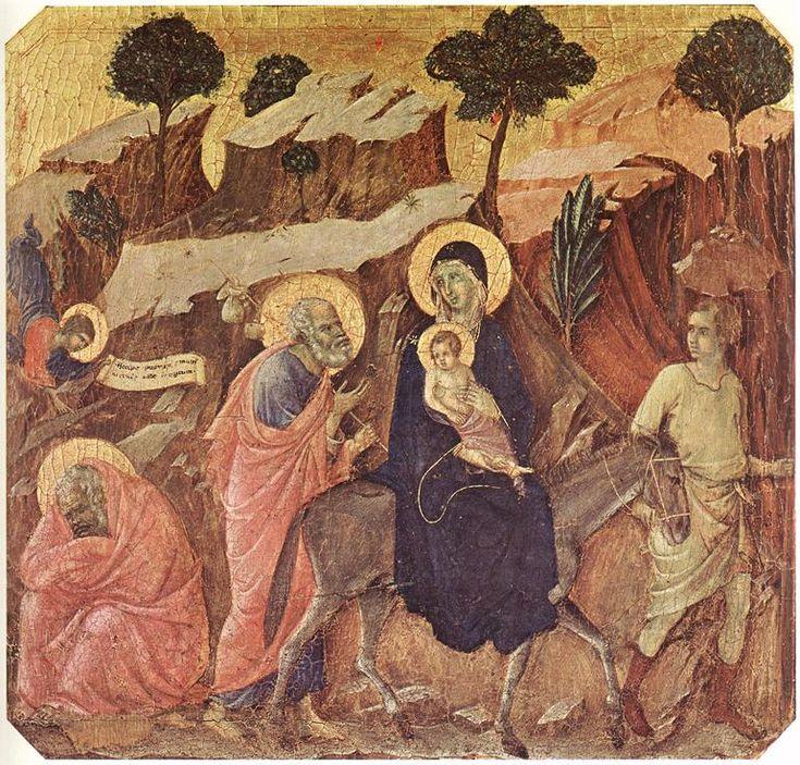 Duccio di Buoninsegna - Flight into Egypt - WGA06766 - Duccio - Wikipedia, the free encyclopedia