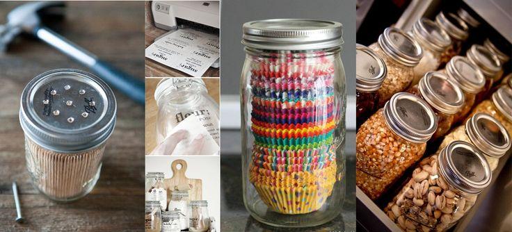 20 formas útiles de usar Mason Jars en tu cocina
