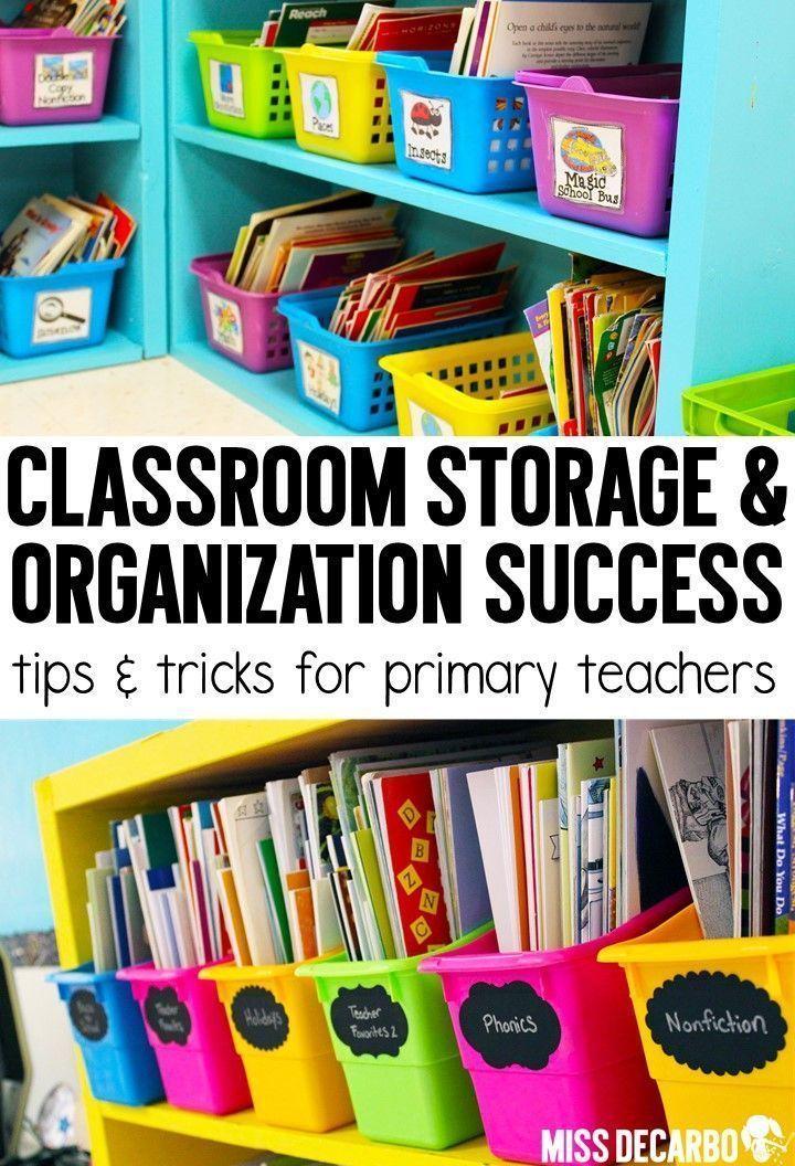 Storage Success Organization Tips Classroom Library Organization
