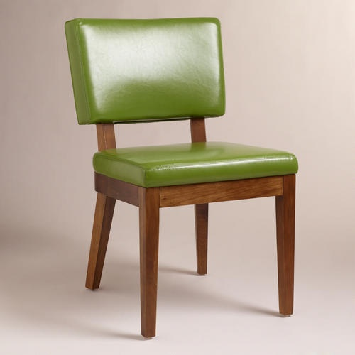 Design450692 Green Leather Dining Chair Set of 2 Green Leather – Green Leather Dining Chairs