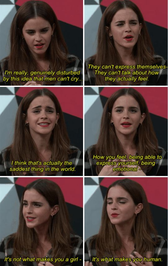 But also reminded everyone that men are also negatively effected by gender expectations.   20 Times Emma Watson Shut Down Sexism In The Best Damn Way