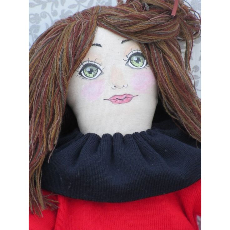 Rag Girl Doll - Fabric Doll - Handmade - Gift - Unique Item - Decor