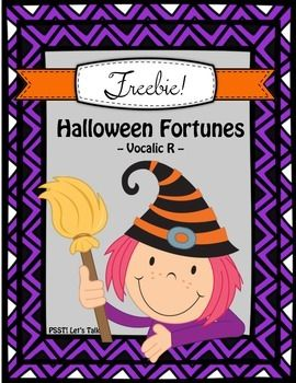 FREE!! Vocalic R Halloween Fortunes for Speech Therapy