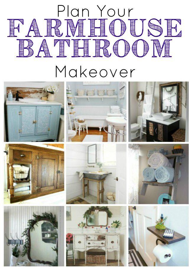 Farmhouse Bathroom Wall Decor : Best images about farmhouse decor from fleamarket