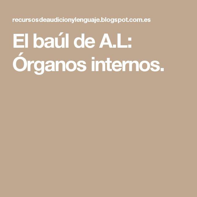 El baúl de A.L: Órganos internos.