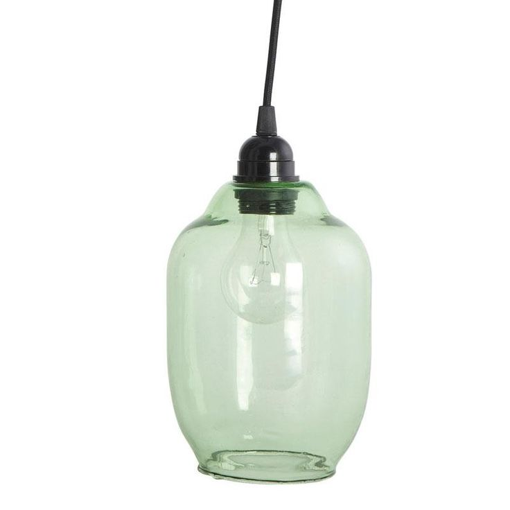 Green Glass Lamp Shade