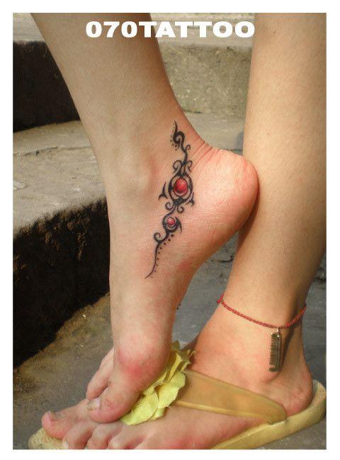 tribal #ankle #tattoo
