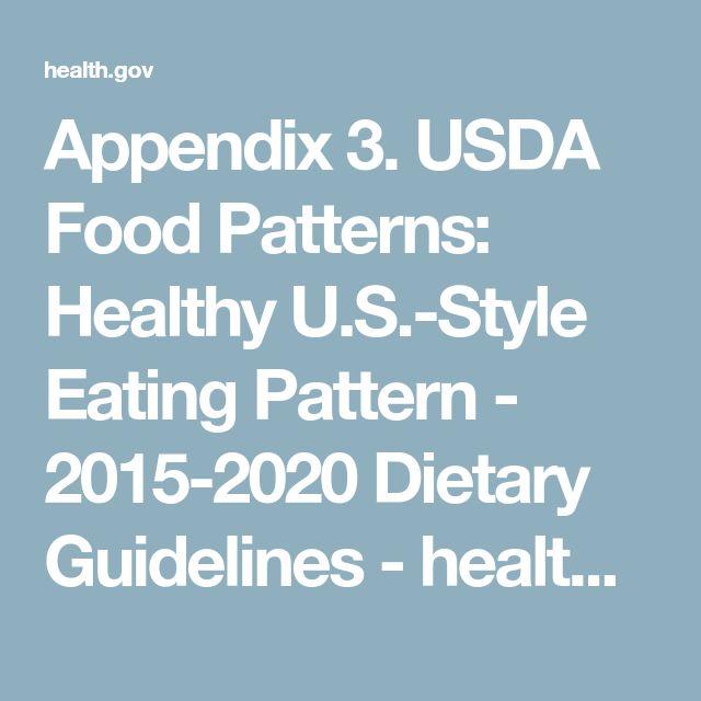 Appendix 3. USDA Food Patterns: Healthy U.S.-Style Eating Pattern - 2015-2020 Dietary Guidelines - health.gov