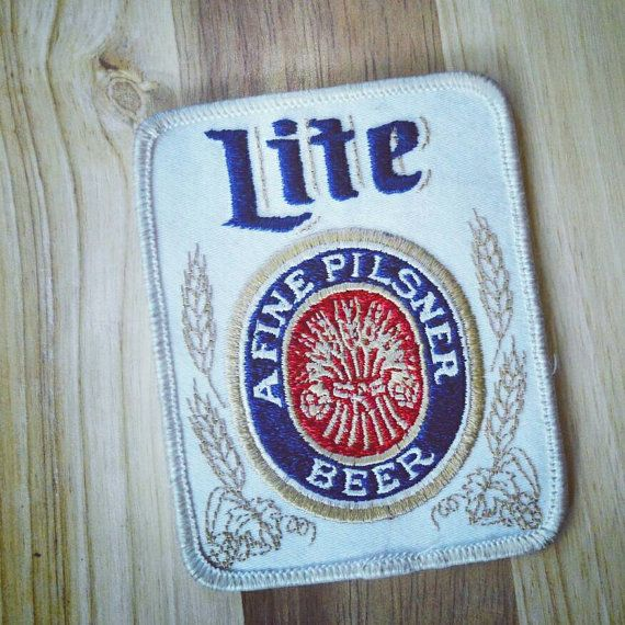 Vintage Miller Beer Alcohol Uniform Jacket Name Sew On Patch