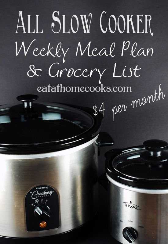All Slow Cooker Meal Plan