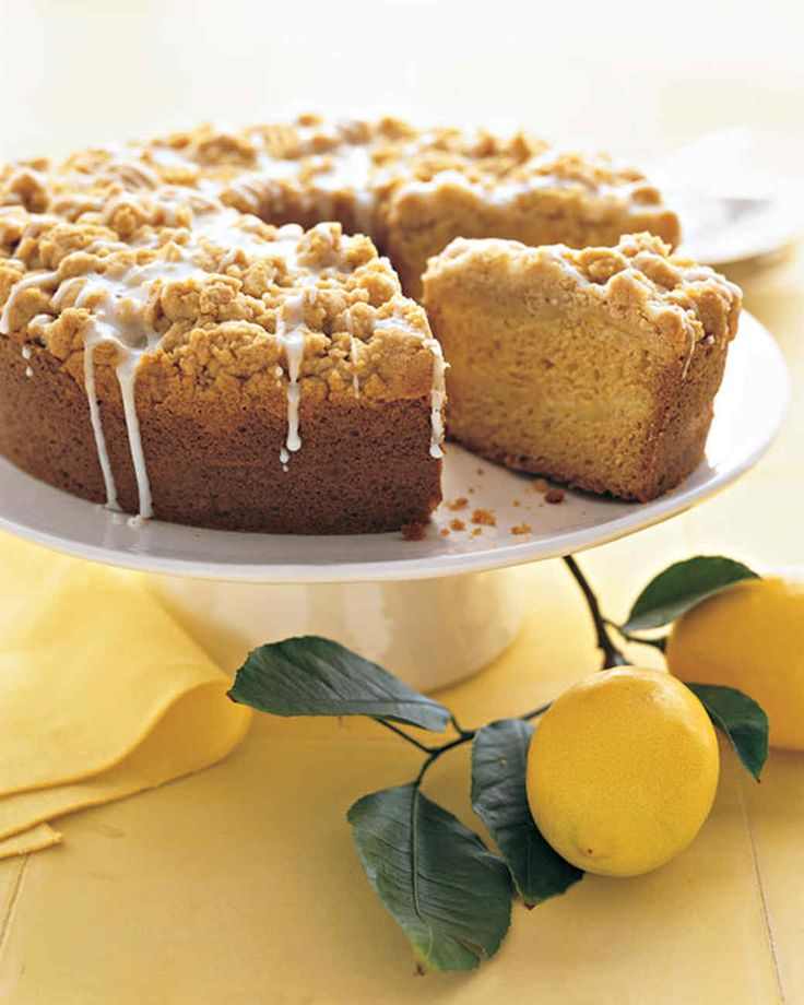 Layers of thinly sliced Meyer lemons lend a mellow complexity to this otherwise classic coffee cake. Thought to be a cross of a lemon and a mandarin, the fruit has an orange cast, a thin rind, and a heavily perfumed flesh that's valued by chefs.