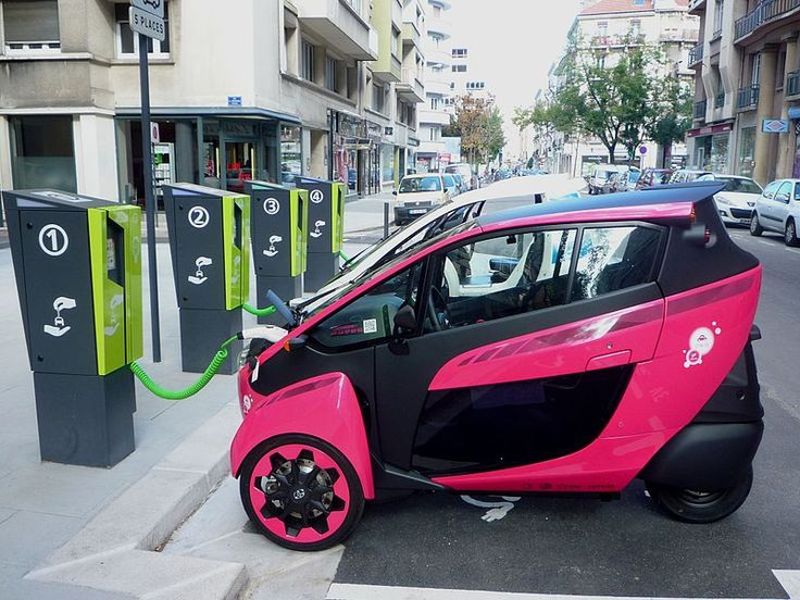 Toyota i-Road, a three-wheeled battery powered personal mobility vehicle