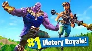 new thanos avengers infinity gauntlet mode fortnite battle royale live - thanos fortnite gameplay no commentary