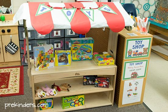 Toy Shop Dramatic Play Center for Preschoolers
