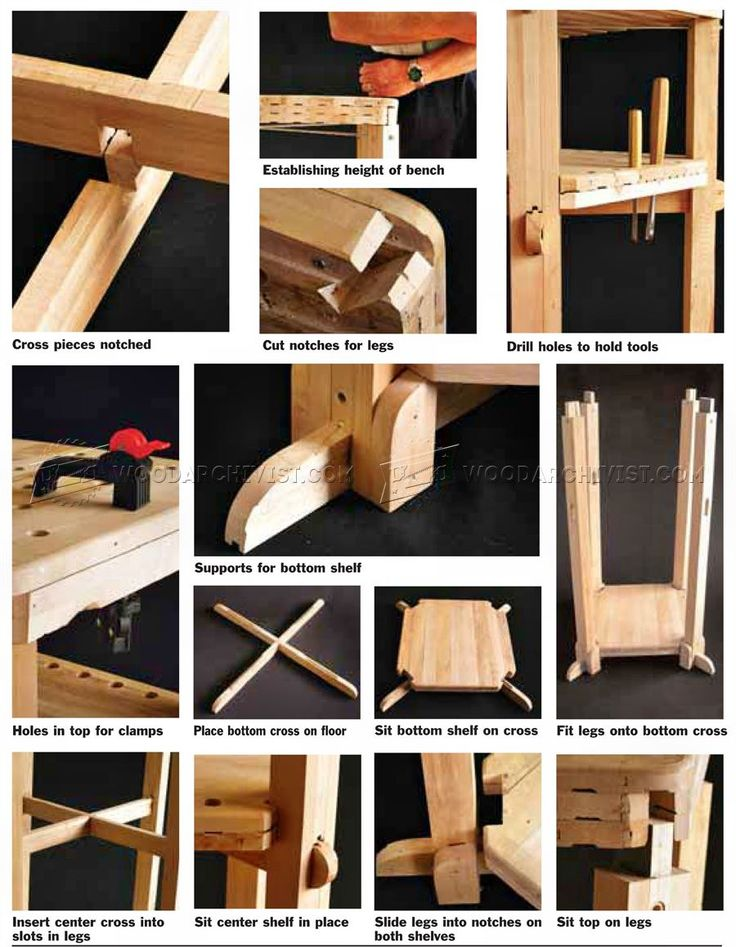 Wood carving bench plans patterns and