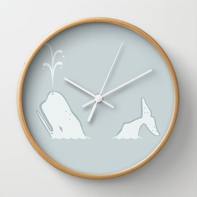 Whale Wall Clock by leducland - $30.00