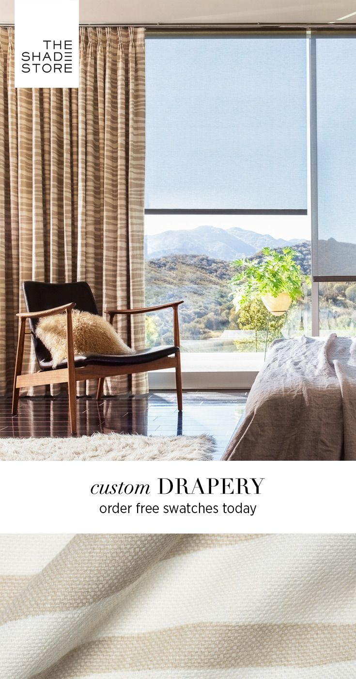 Explore our collection of handcrafted drapes and custom curtains, made from  over 400 materials in 8 stunning styles. Order your free swatches today!