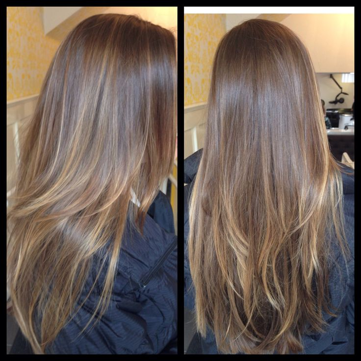 Balayage....dream hair length right here! looks so healthy and shiny!