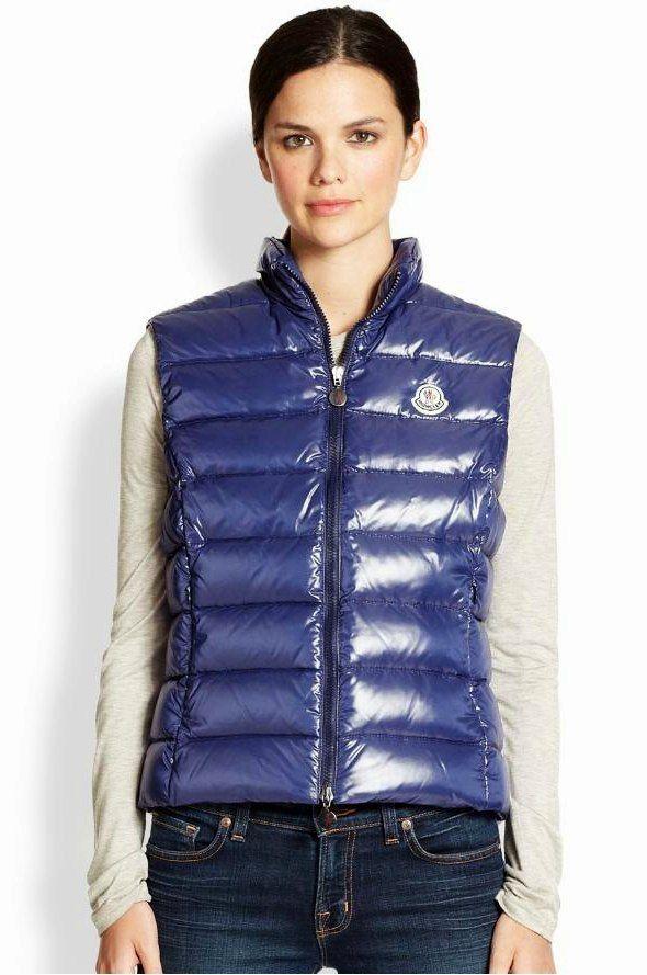 moncler ghany vest blue