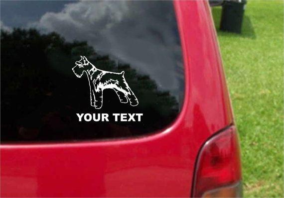 Set 2 Pieces Schnauzer Dog  Sticker Decals with custom text