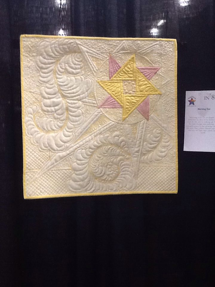 Morning Star...small wall hanging made for the show.