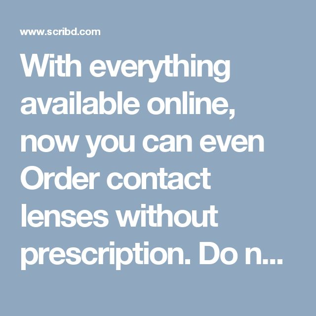 how to buy contact lenses online without prescription