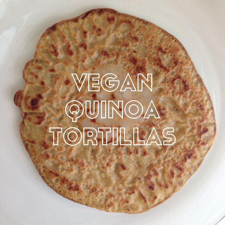 vegan quinoa tortillas