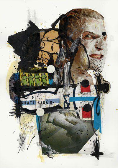 Rattlebrain /collage/ 29,7x21cm