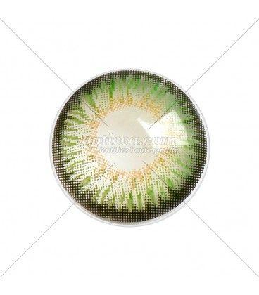 Lentille de couleur vert mystérieux