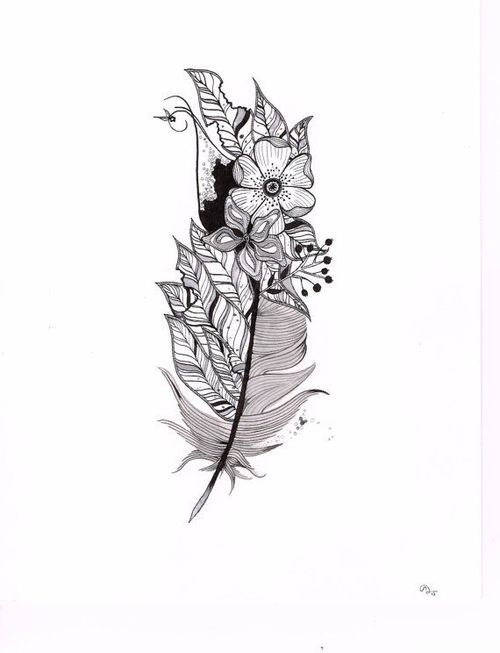 Most popular tags for this image include: feather and flowers