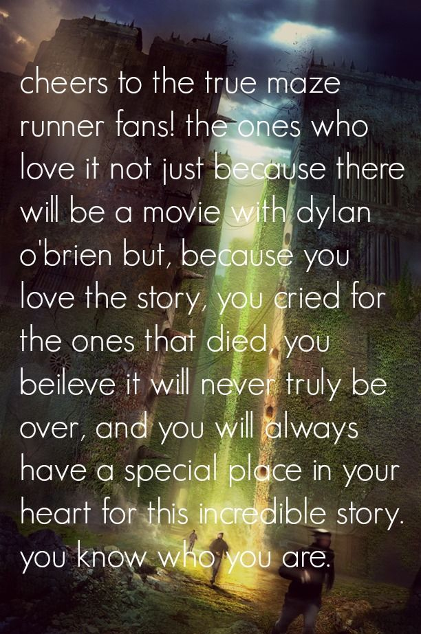 you guys are awesome! just wanted to let you know:) still sad about Newt :'( I disney even know who Dylan O'brien was I haven't seen the movie but I really hope it's not screwed up like the Percy Jackson movies