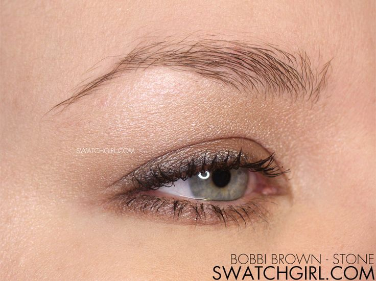 swatchgirl.com - #EOTD - Bobbi Brown Stone Soft Taupe Eye Makeup