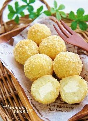 可愛い♡揚げないチーズポテトコロッケ by komomoもも [クックパッド] 簡単おいしいみんなのレシピが239万品