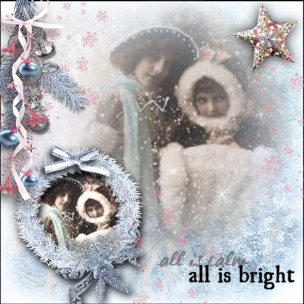 kIT: BLUE & PINK CHRISTMAS by Bee creation
