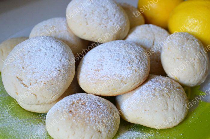 Лимонное песочное печенье.