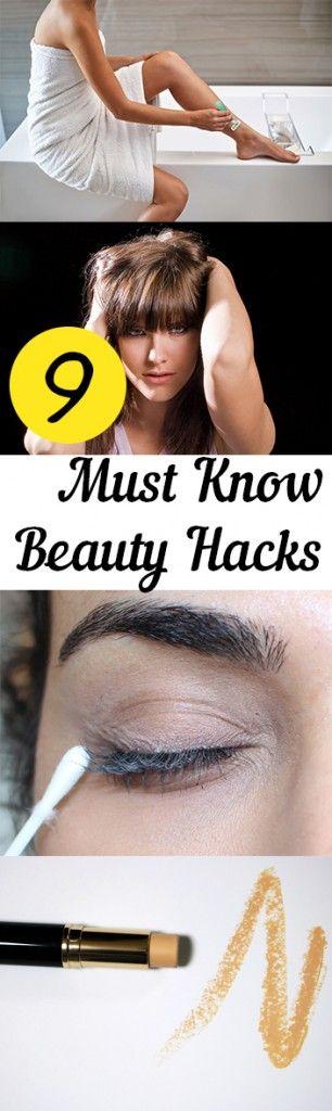 9 Must Know Beauty Hacks