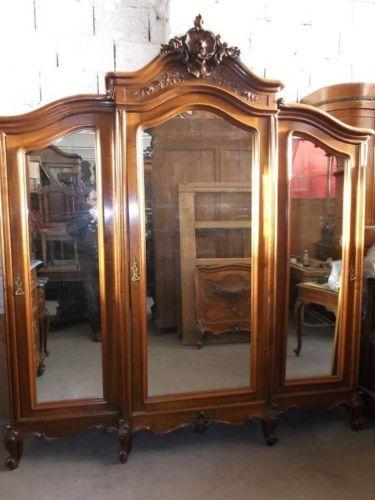 beautiful antique carved victorian walnut italian bedroom set armoire 13it087a ebay
