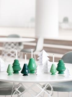 Kahlerdesign Avvento, a series of four candlesticks made in ceramics. Design by Marianne Neilsen. Denmark.