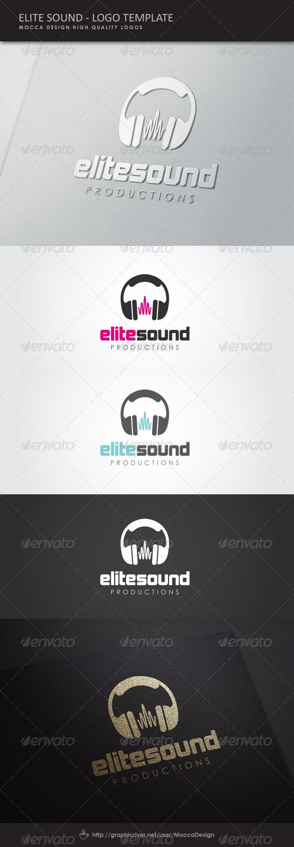 Elite Sound Logo #GraphicRiver EliteSound is a clean, professional and elegant logo suitable for music industry, audio engineering, recording studio, sound technology or any other business related. Features 3 Color Variation: CMYK Pink, CMYK Blue and White 100% Editable & Re-sizable vectors 100% Fully editable text Easily customizable colors AI & EPS documents The ZIP archive contains A folder with EliteSound logo CMYK Pink version in .AI & .EPS A folder with EliteSound logo CMYK Blue…