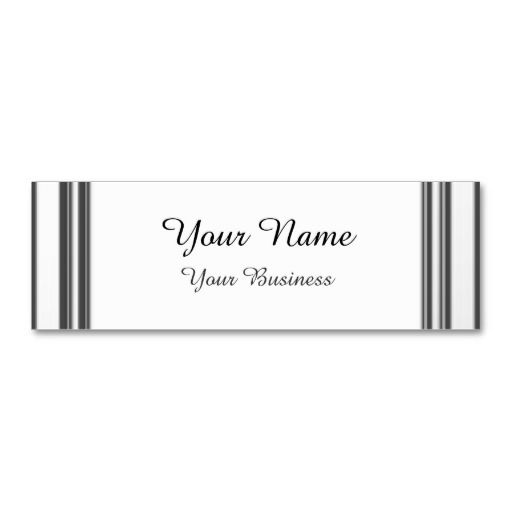 Minimalist Silver Framed Business Cards
