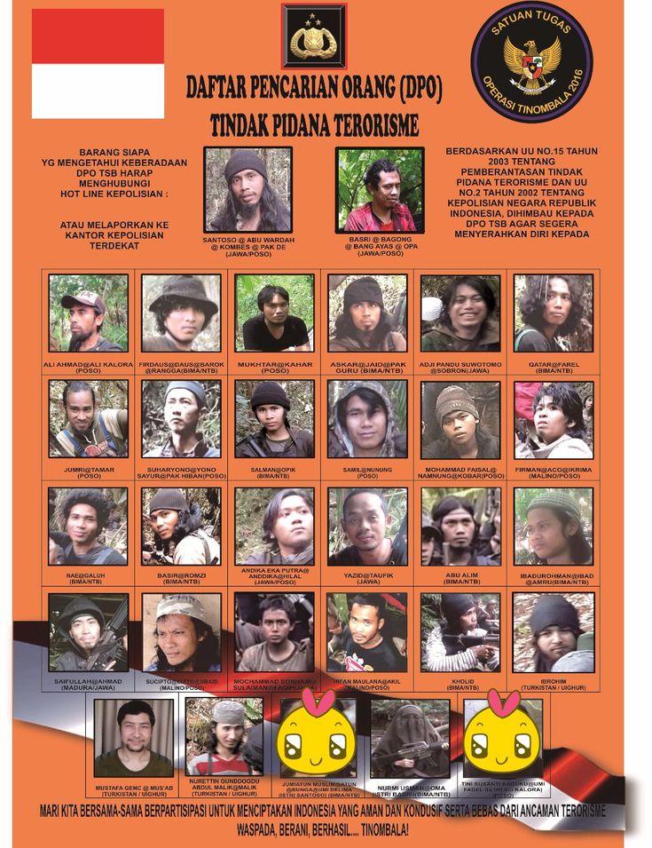 KIBLAT.NET, Poso – Polda Sulawesi Tengah pada Selasa, (05 /04/2016) merilis Daftar Pencarian Orang(DPO) yang diburu dalam Operasi Tinombala 2016. Dalam rilis yang diterima Kiblat.net,terlihat ada pemutakhiran data. Hal itu terlihat dari sederet foto dan nama baruorang-orangyang bergabung dengan Mujahidin Indonesia Timur, pimpinan Santoso. Foto tersebut belum pernah ada sebelumnya padafoto-foto DPO yang lama. Saat …