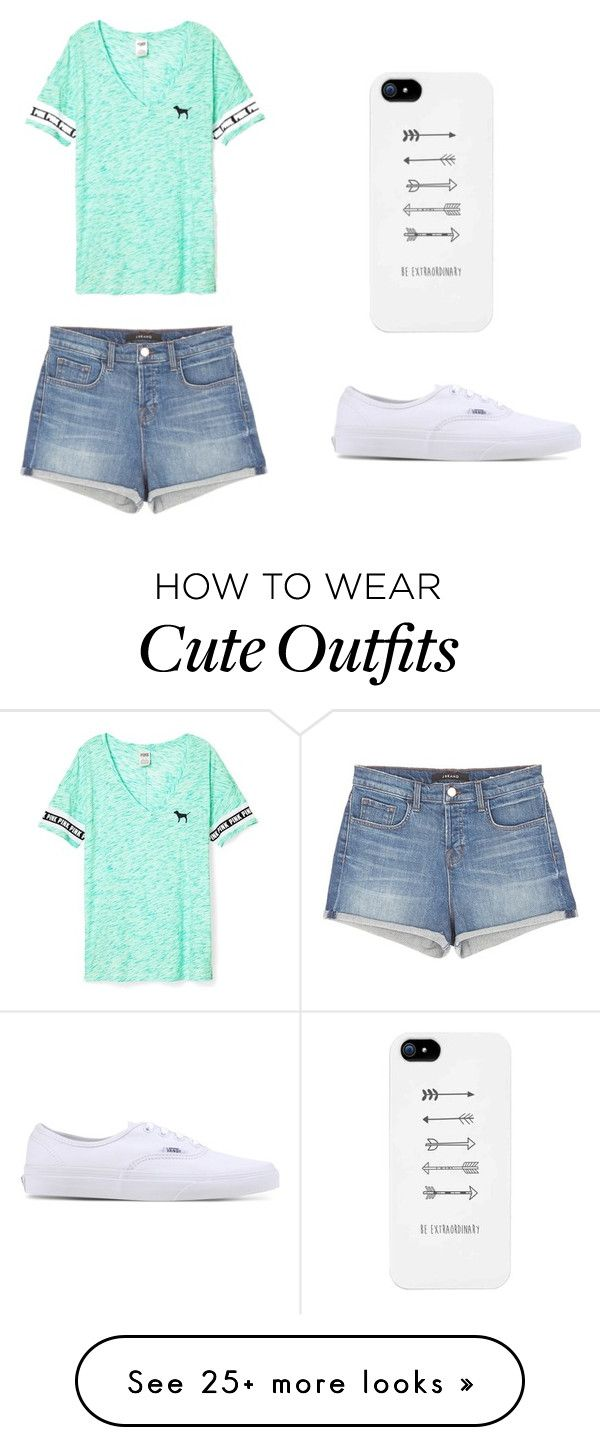 """""""Outfit 603"""" by that-girl-j on Polyvore featuring Victoria's Secret, J Brand and Vans"""