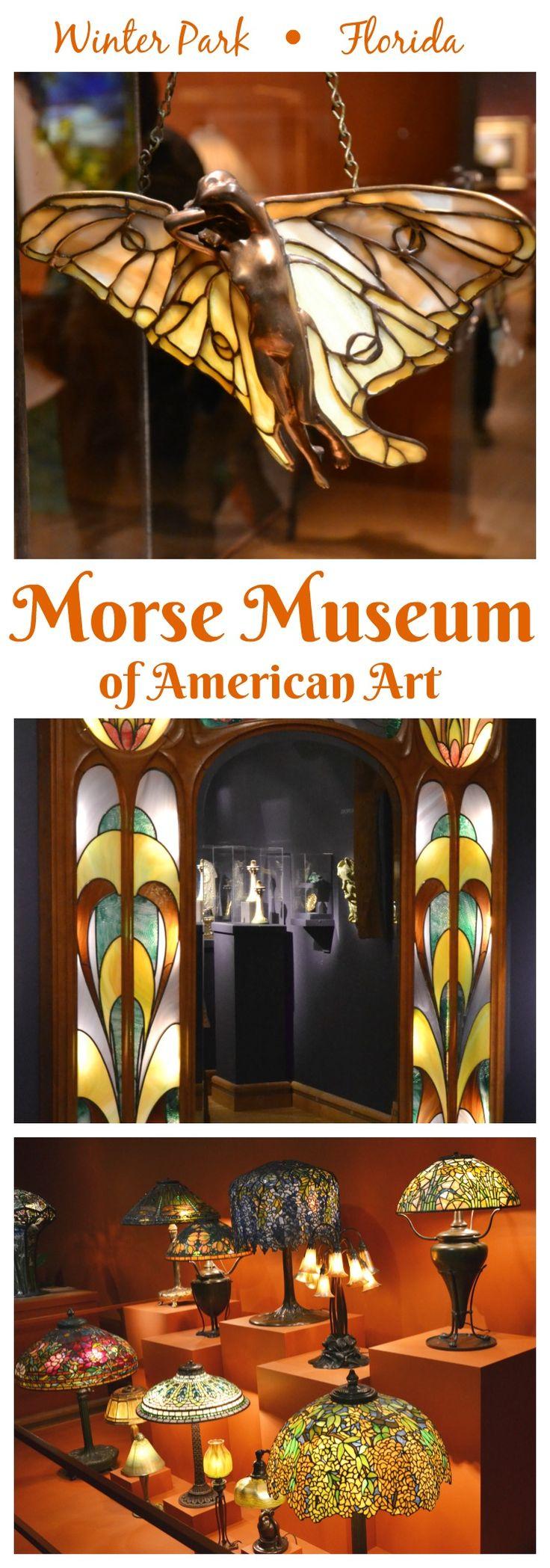 Winter Park - Florida - Charles Hosmer Morse Museum of American Art: O Charles Hosmer Morse Museum of American Art, que exibe o mais abrangente conjunto de obras do norte-americano Louis Comfort Tiffany, são joias, cerâmicas, pinturas, vitrais e as premiadas luminárias