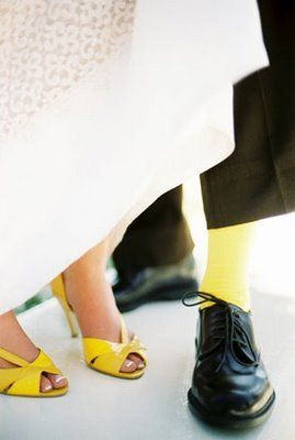 Sapato noiva amarelo