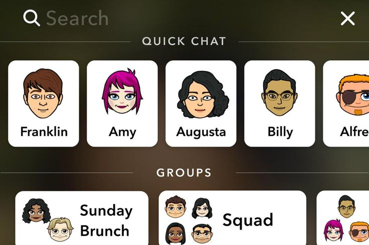 "•	Snapchat has added a search bar that is always accessible in order to make it easier to find publishers' content, friends, groups, and stories. •	Also acts as a shortcut to the profile if the user clicks on their ""Bitmoji"" •	Further functionality introduced by Snapchat allows Snapchatters to submit to the Our Story from anywhere rather than a specific location."