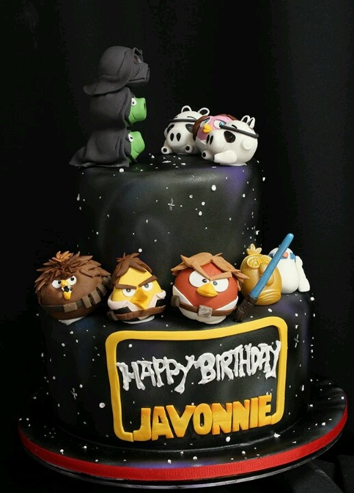 Details about HANDMADE EDIBLE ANGRY BIRDS STARWARS STYLE ...