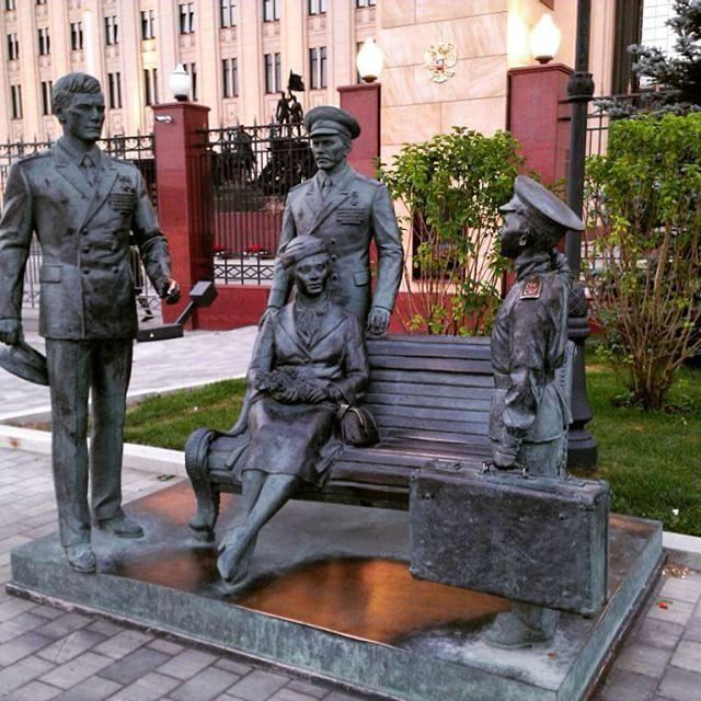 Памятник героям фильма Офицеры. Москва. Россия.