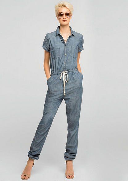 Charlie Denim Jumpsuit - Dressy Denim - Whats New - Alloy Apparel