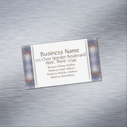 Unique Pattern | Add Information Magnetic Business Card - pattern sample design template diy cyo customize
