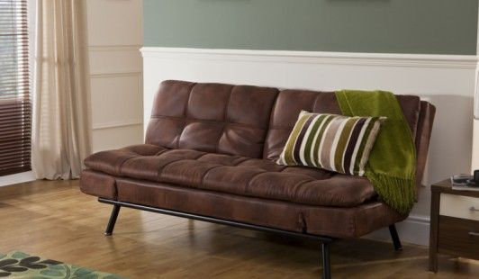 Texas Faux Leather Sofa Bed - This versatile sofa bed is a great option if space for guests is limited in your home.